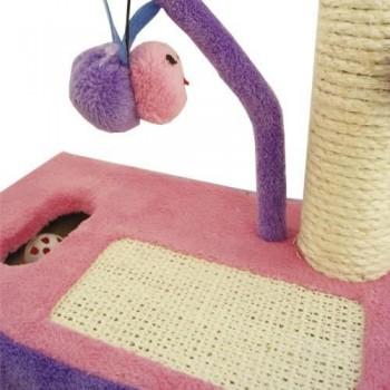 rascador gato lila rosa