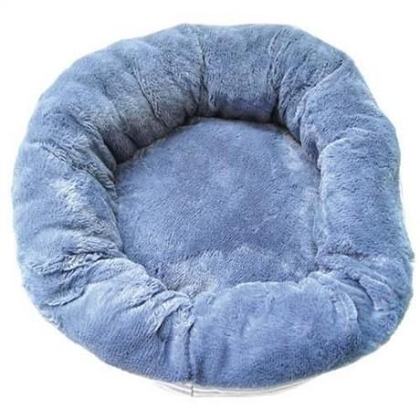 Cama para perro Donut azul suave