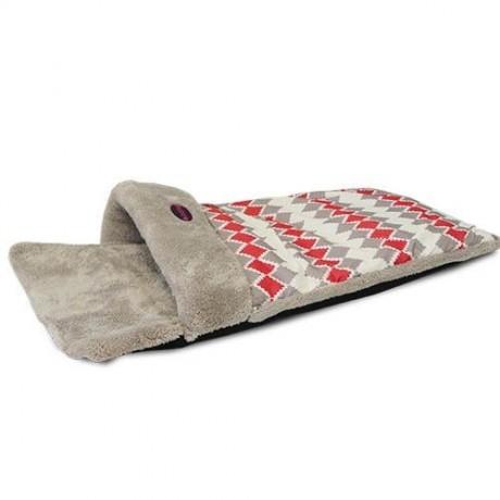 Cama para perro Saco rombos gris