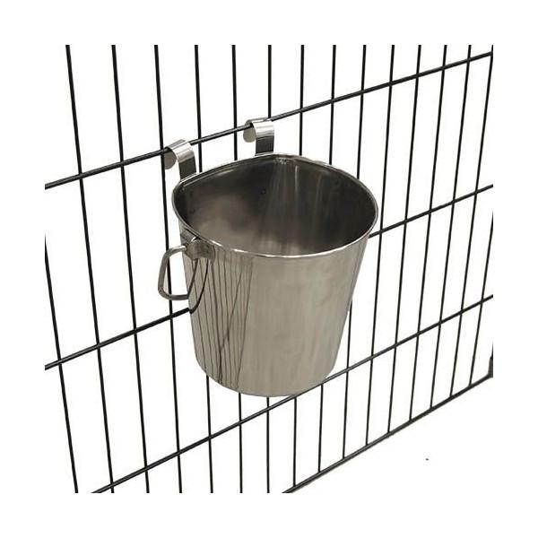 Cubo para perro bebedero metalico