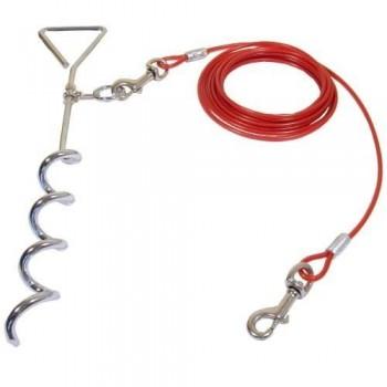 Cable para perro con anclaje