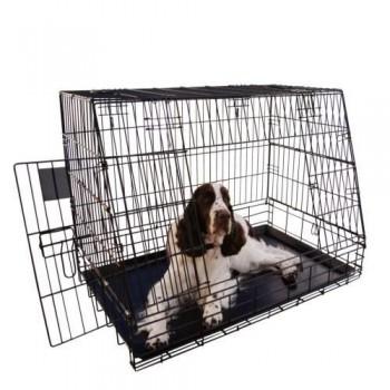 jaula para perro plegable coche