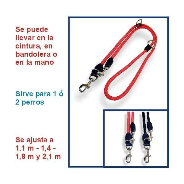 Correa para perro adiestramiento nylon redondo