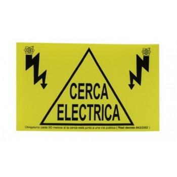 Cartel para cerca eléctrica de perros y gatos