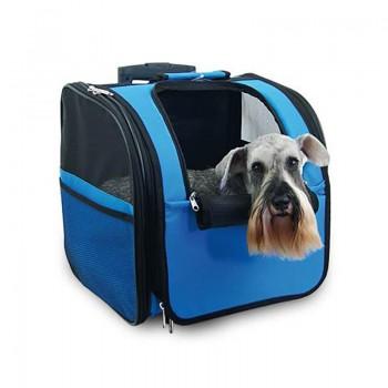 Bolso mochila para perro con ruedas