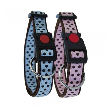 Collar para perro nylon lunares
